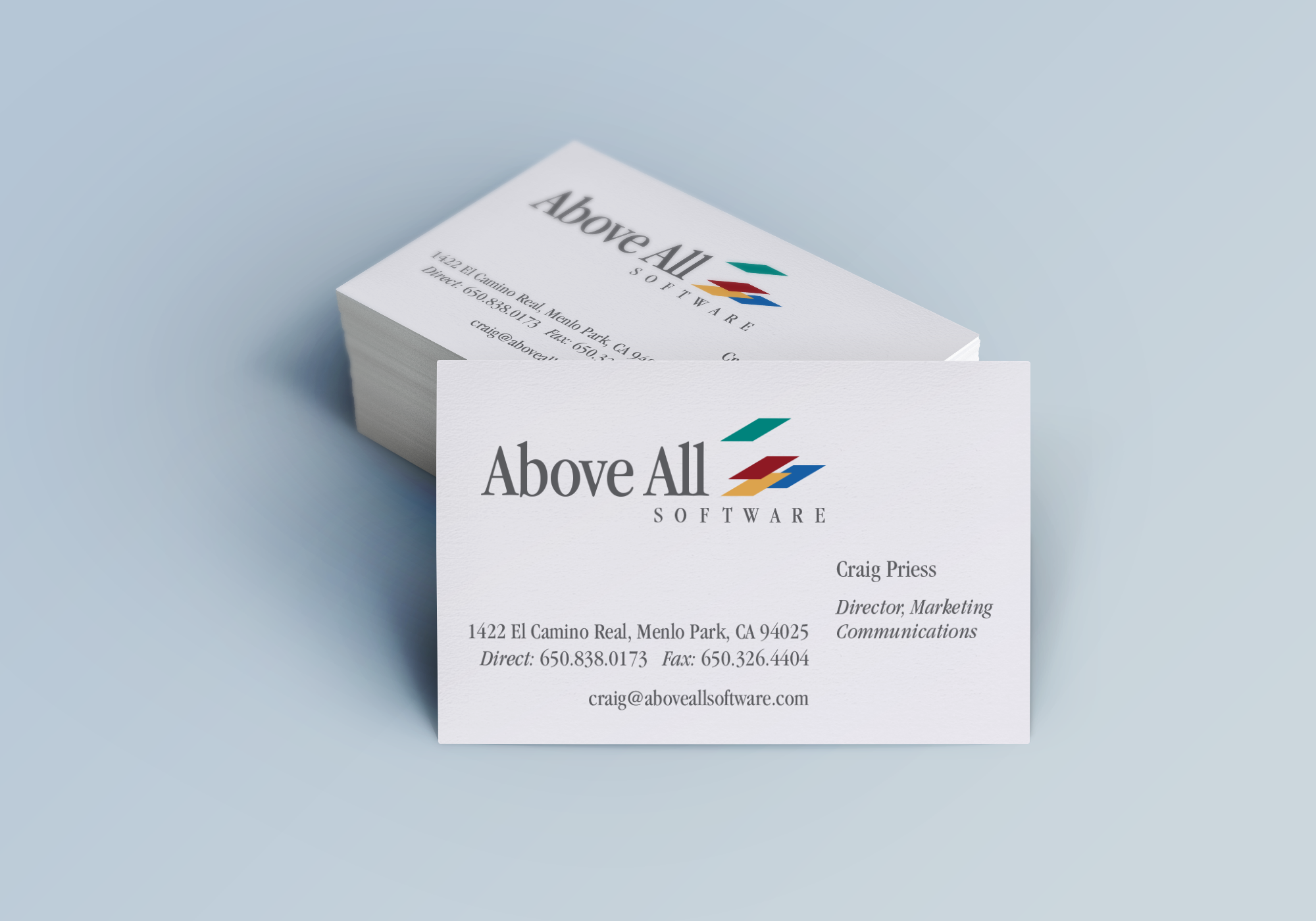 above all software business cards